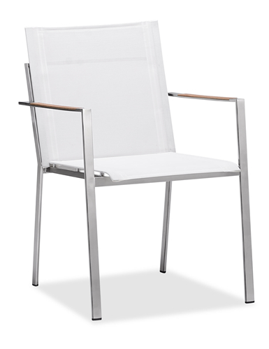 Metal garden chair patio dining chair with armrest (Y072BF)
