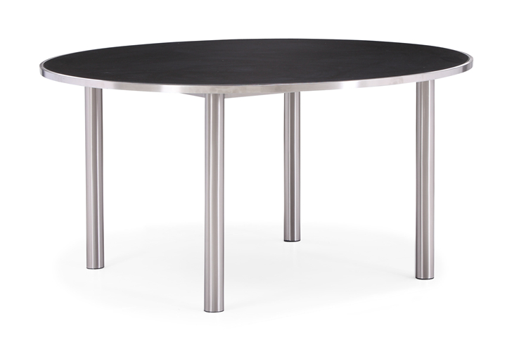 Stainless steel round table outdoor dining table (T025G-A)