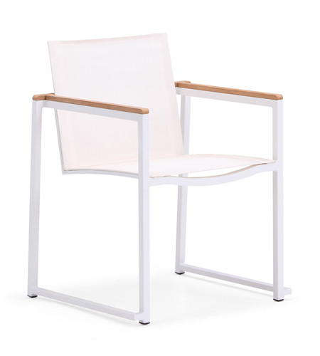 Anti- UV powder coated aluminium outdoor dining chair(Y040ABF)