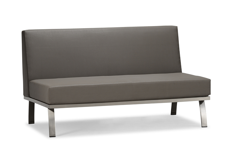 Outdoor sectional armless sofa (S114S2)