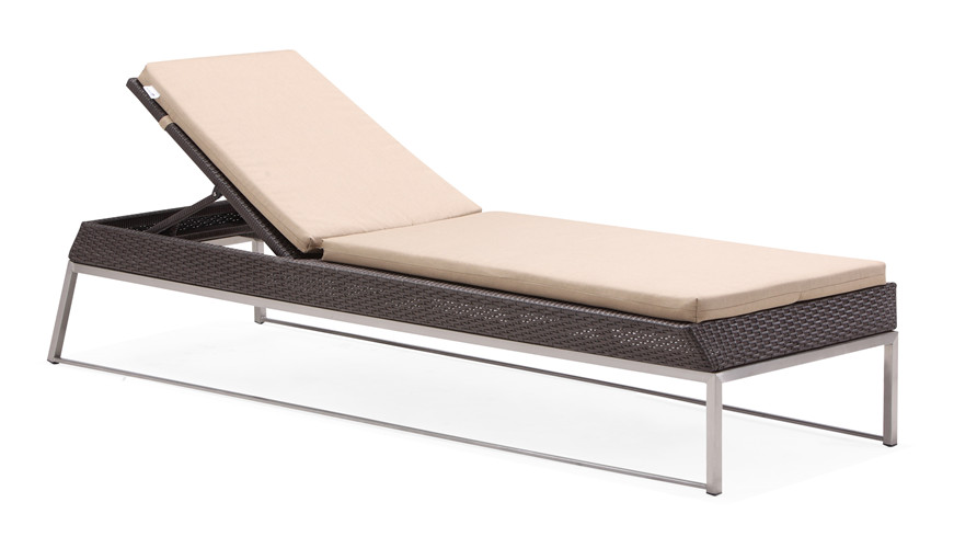 Outdoor beach comfortable chaise lounge(C018T)