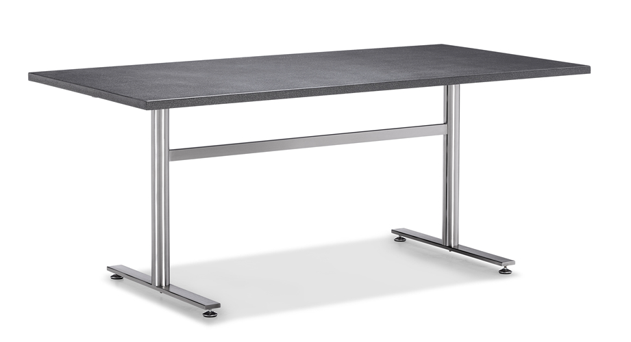 Garden dining table set stainless steel leg table (T051S)