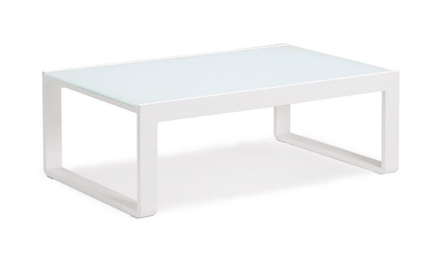Powder coated aluminium white coffee table(T079AGJ)