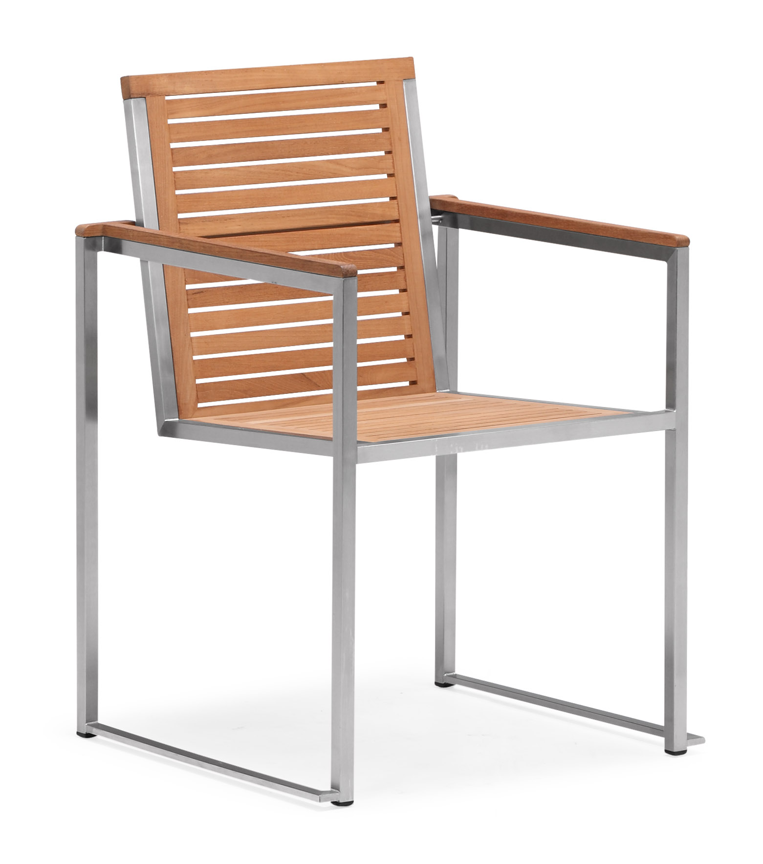 Teak stackable outdoor dining chair (Y006MF)