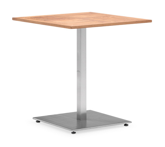 Stainless steel legs outdoor teak wood table (T015M)