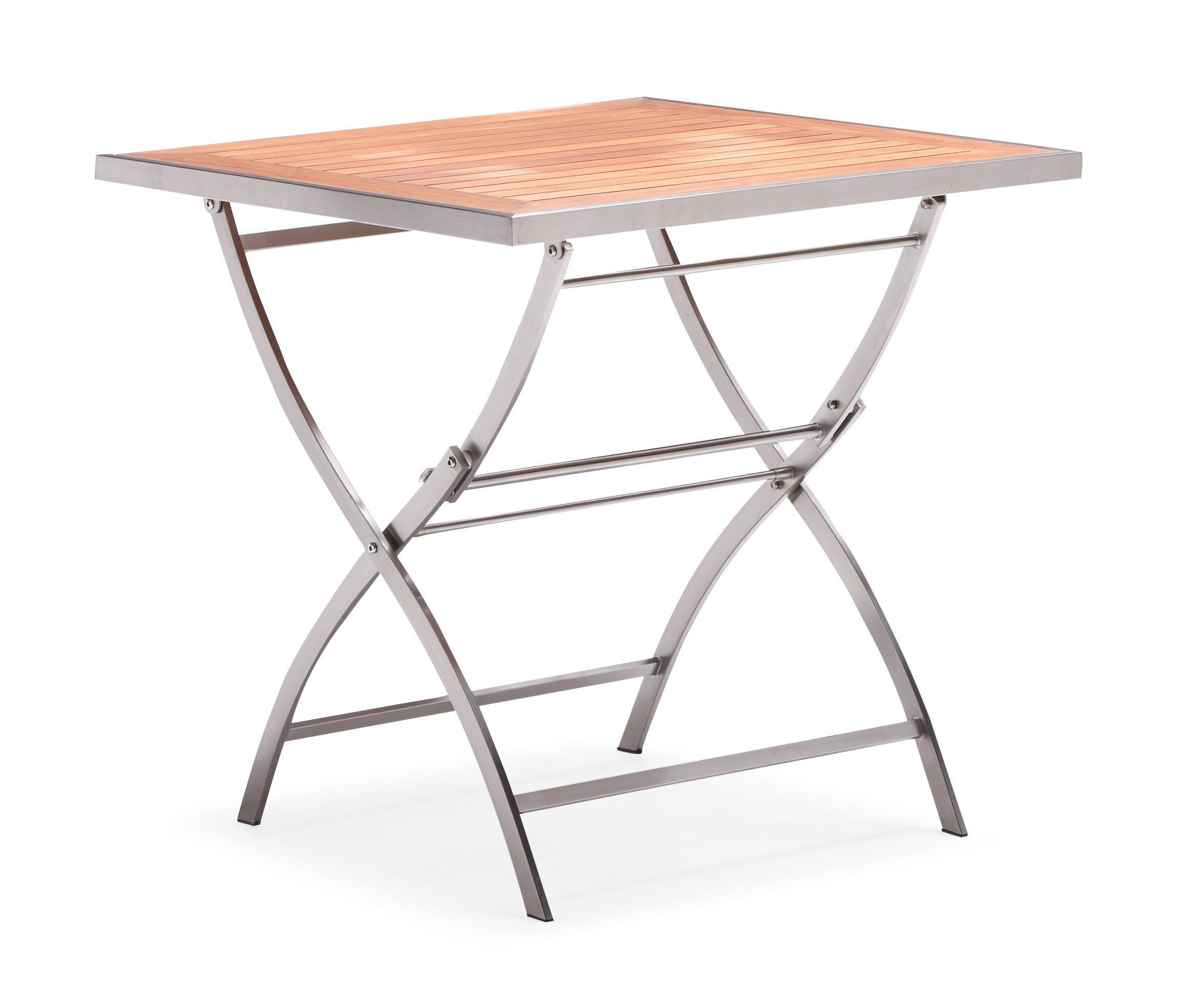 Patio folding table stainless steel teak garden table (T062M)