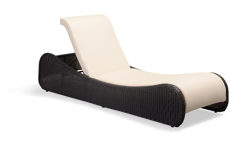 Pool side adjustable rattan chaise lounge (C033MPT)
