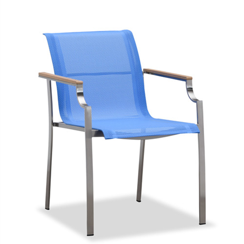 New design blue outdoor sling dining chair(Y304BF)