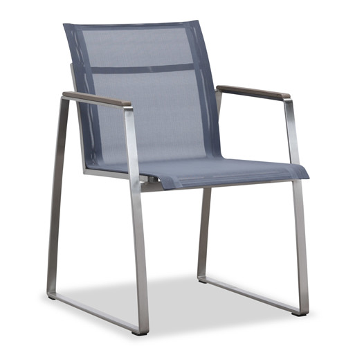 Outdoor dining chair with armrest (Y303BF)