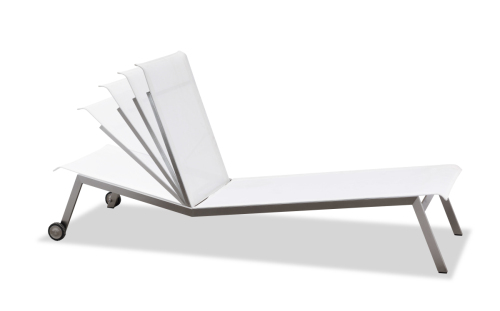 Ajustable outdoor chaise lounge armless(C302B)