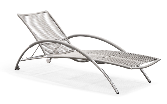 Outdoor sun lounger with arms(C019SF)