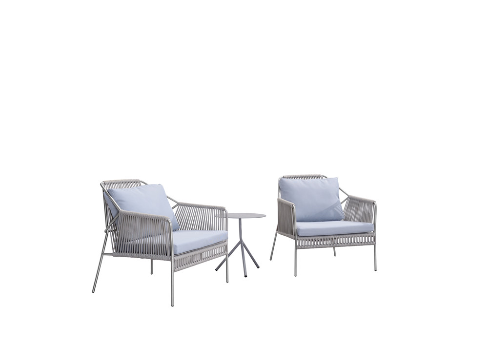 Stainless steel club chair with rope (S309SF)