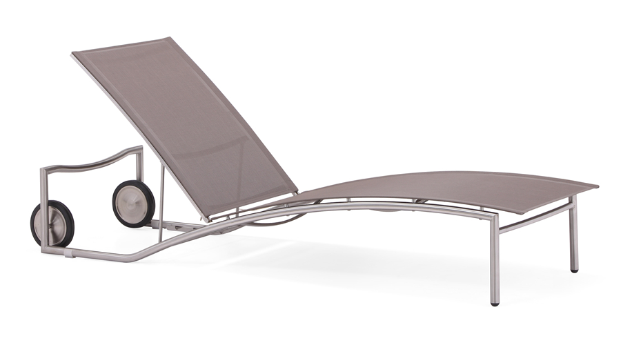 Pool side stainless steel legs sun lounger (C023B)