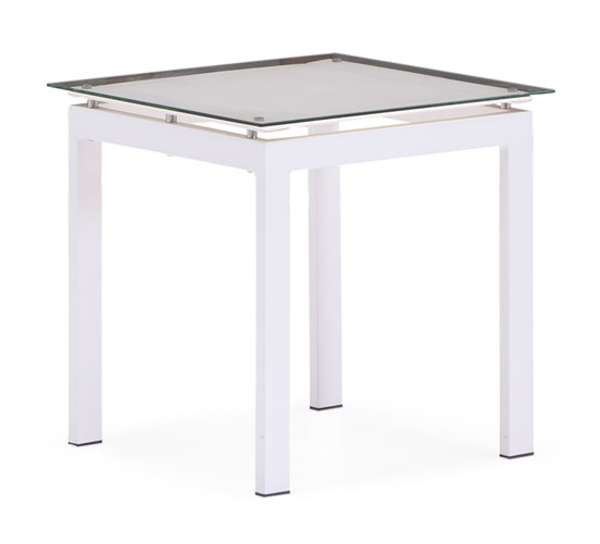 Outdoor white aluminium end table(T063ABJ)