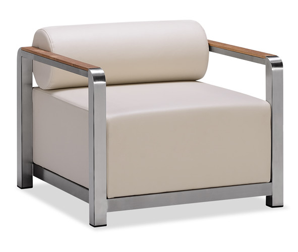 Outdoor patio sofa with armrest (S075PF)