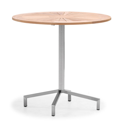 Teak outdoor furniture round garden table (T030M)