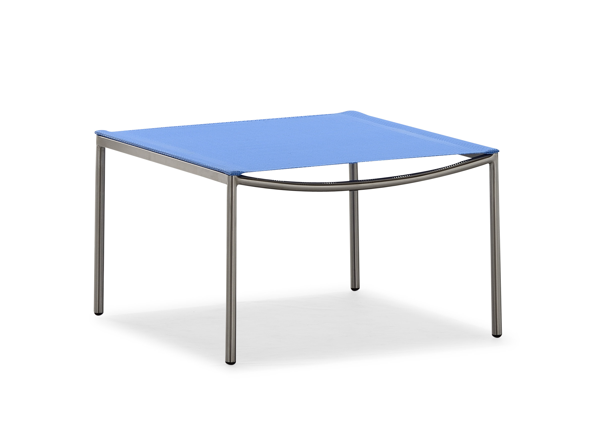Metal garden furniture blue ottoman (S067BJ)