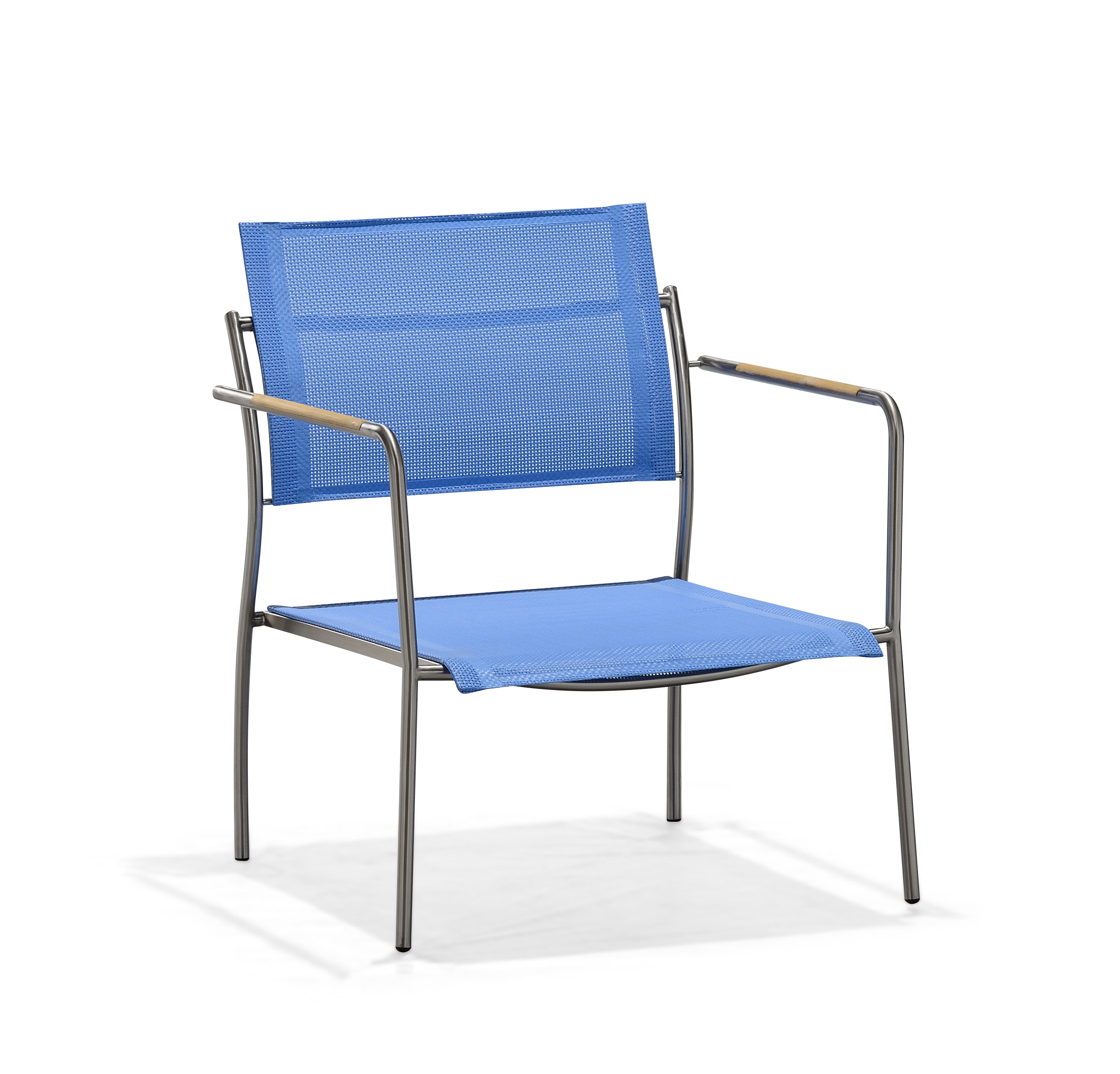 Metal garden furniture blue club seat sofa (S067BF-A)
