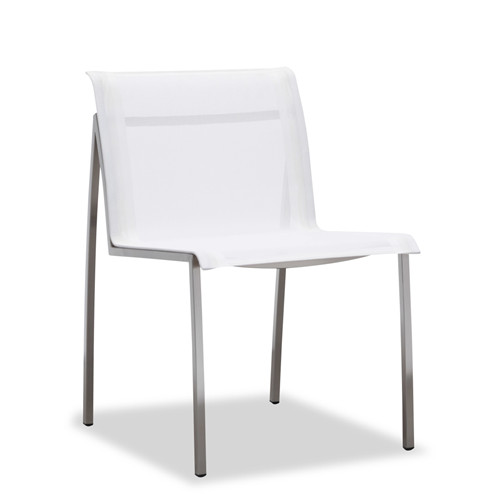 Outdoor textilene dining chair armless(Y302B)