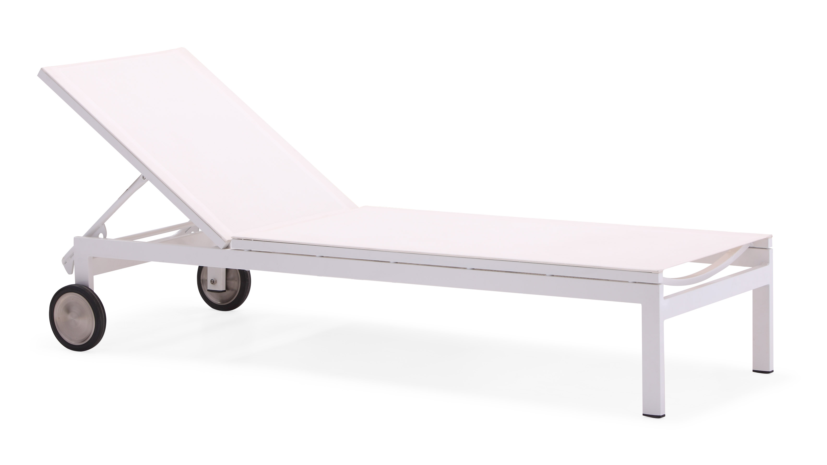 Aluminium outdoor chaise lounge armless(C001AB)