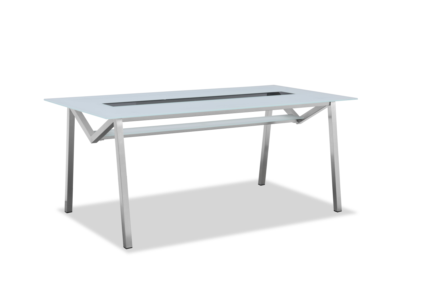 2018 new collection outdoor glass dining table(T302G)